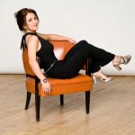 Mary Panacci orange chair